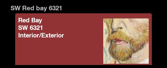 Vincent Van Gogh Portrait Color Palette RiversColorworks Design