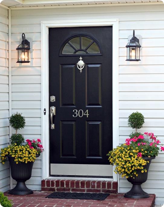 GI. black front door