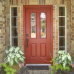 GI. brick color front door