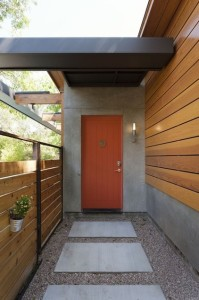 GI. modern.modern orange door.entry
