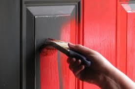 GI. painting grey door