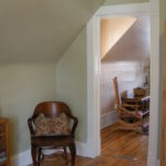 """Benjamin Moore Color Stories """"Plantation"""" softens up the office adjoining the bedroom."""