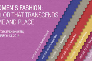 Pantone Fashion Color Report for Fall 2014