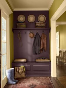 coat rack.entry.purple.green