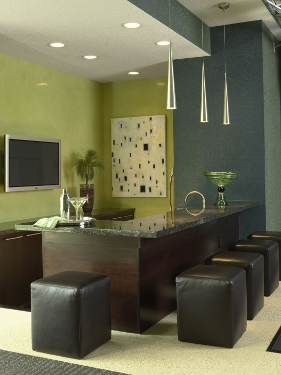green.gray modern interior