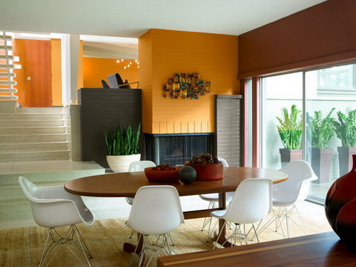Gold. Clay.Modern House Interior Paint Color Ideas