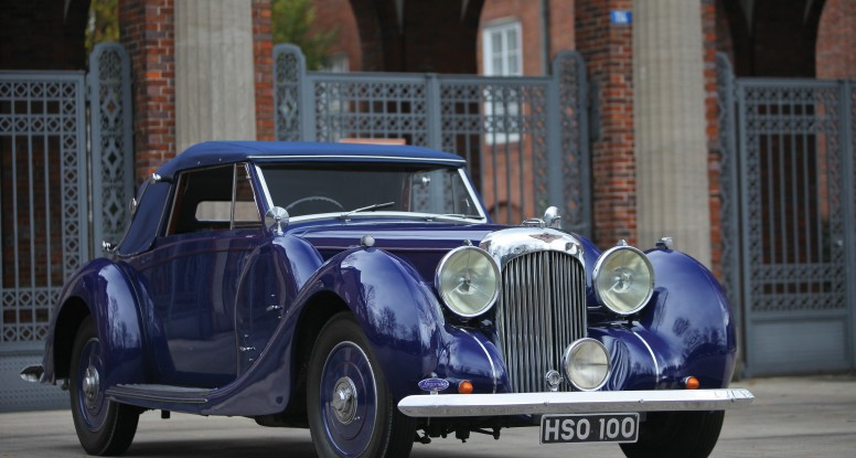 Prussian Blue. Bentley car.Lagonda V12
