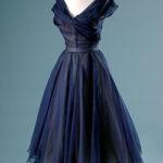Prussian Blue.ChristianDior eve dress. 1950. Paris