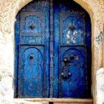 Prussian Blue.Door.Tsfat, Safad, Israel.P