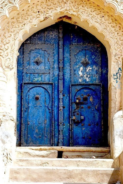 Prussian Blue.Door.Tsfat, Safad, Israel.P