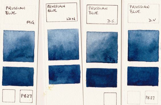 Prussian Blue.watercolors.P