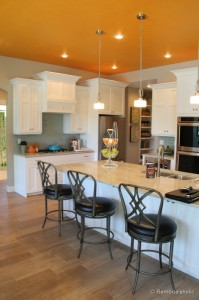 orange ceiling.kitchen